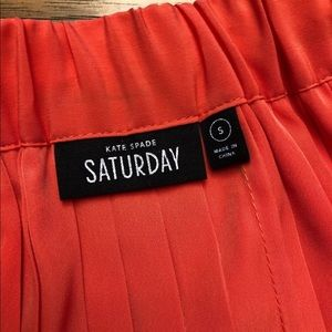 Kate Spade ♠️Saturday neat pleat coral skirt small